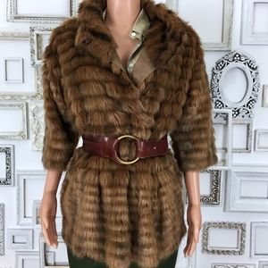 ac93bb2fb3 PINKO | Faux Fur Cape Style Coat/Jacket Small 4